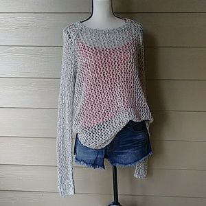 Knitted see-through sweater size XL